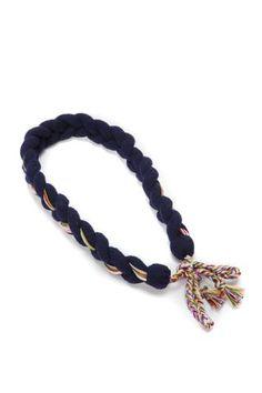 Mørkeblått hårbånd