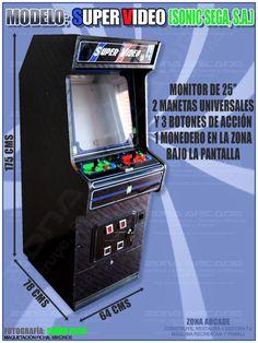 Arcade Bartop, Arcade Machine, Arcade Games, Geek Stuff, The Originals, Retro, Space, Storage, Videogames