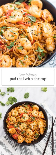 An IBS-friendly twist on the Thai classic, this Low FODMAP Pad Thai with Shrimp offers a filling meal-in-one-bowl that's packed with flavor!