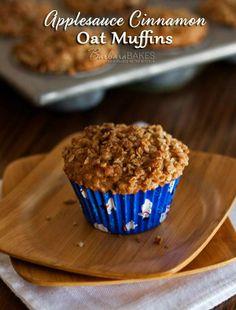 Applesauce Cinnamon Oat Muffin Recipe   Barbara Bakes