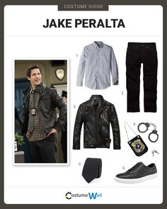 Be an amazing detective/genius, dressed as Jake Peralta from the TV show Brooklyn Nine-Nine. Halloween Costume Contest, Cute Halloween Costumes, Halloween Cosplay, Cool Costumes, Halloween Halloween, Vintage Halloween, Halloween Makeup, Costume Ideas, Cosplay Outfits