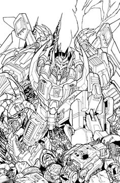 TF MTMTE 39 cover lineart by markerguru on DeviantArt Transformers Drawing, Transformers Coloring Pages, Transformers Prime, Marvel Coloring, Adult Coloring, Tf Art, Colouring Pages, White Art, Line Drawing