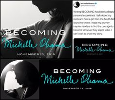 """Former #FirstLady #MichelleObama first book post-White House will be a memoir titled #Becoming that is set to hit the shelves Nov. 13. 2018 """"Becoming,"""" which publisher #PenguinRandomHouse called """"unusually intimate"""" in a news release Sunday, February 25, 2018 will follow Obama's journey from the South Side of Chicago to 1600 Pennsylvania Ave."""
