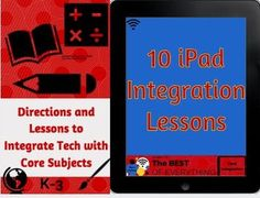 Amazing resource of 10 incredible ipad tech-integration lessons for core subjects. Each powerpoint comes with step-by-step procedures that can be shown directly to students on how to use the app. and a video that walks students through the application content across math, science, social, studies, Reading and writing. (important - video plays only when the powerpoint is in 'play slideshow mode' - just click the powerpoint slide and it will link to the video.)