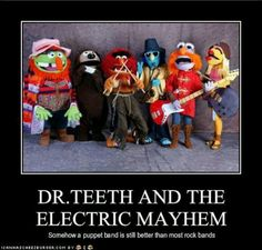 Dr Teeth and the Electric Mayhem!  Love the Muppet's!
