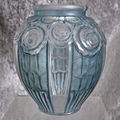Hunebelle Art Deco Glass Vase, c. 1930