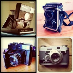 love old cameras + instagram treatment