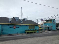 Fishy Fishy Cafe, Southport, NC - great place for a drink and ocean gazing