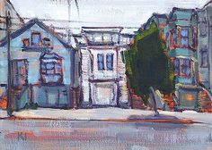 """Daily Paintworks - """"The Mission, San Francisco"""" - Original Fine Art for Sale - © Kevin Inman"""