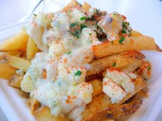 Violetta's hand cut yukon gold fries with blue cheese sauce though, aka the Oregonzola fries