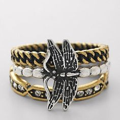 Dragonfly Stack Rings