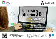 Curso de DISEÑO 3D de @LEON3D y la Fundación General de la Universidad de León y de la Empresa  #3dprinting #innovacion #tecnologia #educacion #leonesp