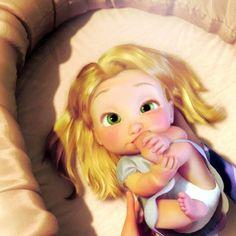 ¡NUEVAS IMÁGENES DE PRINCESAS DISNEY!! - Rapunzel Bebé : Álbum foto - enFemenino.com : Álbum foto - enFemenino.com