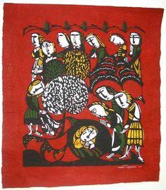 Japanese Art by the artist Sadao Watanabe | Joseph in the Pit 1963