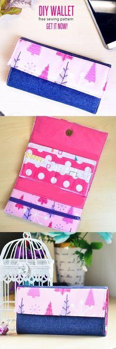 free wallet patterns, wallet pattern, handmade wallet tutorial, DIY wallet, how to sew a wallet, wallet sewing patterns, sew wallet, fabric wallet,