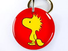 Woodstock (Snoopy/Peanuts) Pet ID tag--customizable