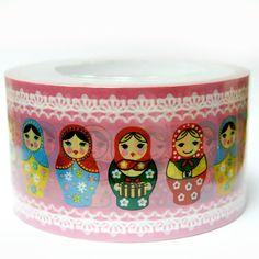 Kawaii masking deco tape Matryoshka by scrapbooksupply on Etsy, $3.50 - Want!!
