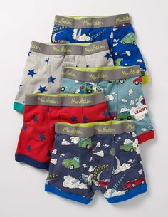 Question: what could be better than a comfortable pair of pants? Answer: five pairs (of course). With this pack of quality cotton boxers, you'll feel cosy enough to take on any adventure. Elasticated waistbands create the perfect fit and we've chucked on some cool prints and button trims, too – just because.