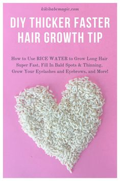 DIY Thicker Faster Hair Growth Tip How to use fermented rice water to grow long hair super fast, fil Growing Long Hair Faster, How To Grow Your Hair Faster, Grow Long Hair, Grow Hair, Hair Remedies For Growth, Hair Growth Treatment, Hair Growth Tips, Natural Hair Regimen, Natural Hair Tips