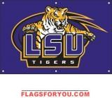 LSU Tigers Fan Banner 2' x 3'