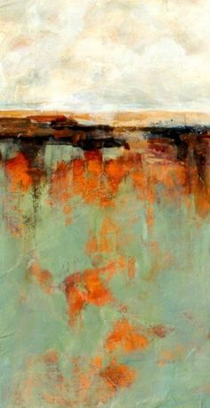 Abstract Painting Diana Mulder It goes with the color theme I want in the bedroom