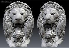 Lion bust sculpture by Marco Valenzuela