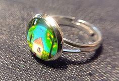 """Ringe - Cabochon-Ring """"Zuhause"""" - ein Designerstück von Soulmate-Works bei DaWanda"""