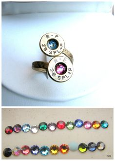 Bullet Birthstone Couples Ring Bella Donna Jewelry Co on Etsy - Knoxville, TN