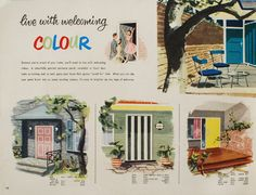 Scouted: Vintage 'Live with Colour' Taubmans book, circa 1950s
