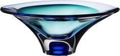 Vision Bowl Blue, Vision, Göran Wärff, Kosta Boda - Buy art glass at ArtGlassVista!