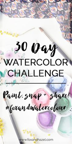 Get started in watercolours with 30 days of easy prompts to follow! Play, explore and learn more about watercolors alongside a community of creatives.