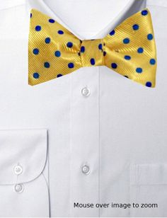 Polka Dots Yellow Stylish Pre Tied Bow Ties for Boys and Girls Adjustable Length by FOREER Bow Tie For Kids