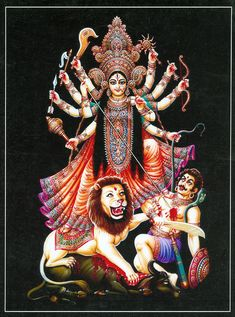 Navratri is the most sacred and divine nights to worship Goddess Durga Saraswati Goddess, Kali Goddess, Indian Goddess, Goddess Art, Maa Durga Photo, Durga Maa, Kali Hindu, Hindu Art, Hindu India