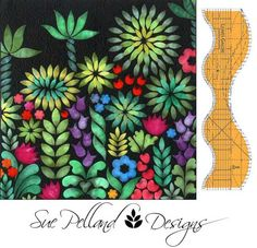Sue Pelland designs using her ruler and shiva paint sticks