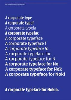 A corporate typeface for nokia, Erik Spiekermann, 2002