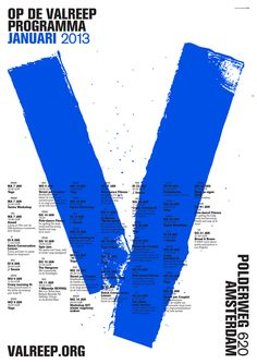 OK200 – Op de Valreep Programma, Polderweg 620, Amsterdam, 2013 | Typography
