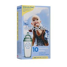 """Single use Sterile baby bottles at Toys""""R""""Us!!  Great for traveling and perfect for camping!"""