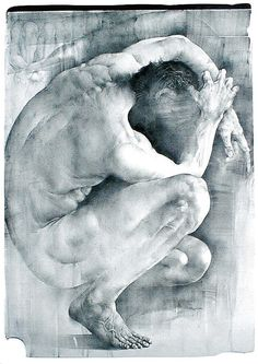 """""""Life in A Spiral"""" - Oldrich Kulhanek {figurative nude male human body man anatomy drawing} Figure Painting, Figure Drawing, Painting & Drawing, Life Drawing, Drawing Sketches, Art Drawings, National Gallery Of Art, Art Gallery, Academic Drawing"""