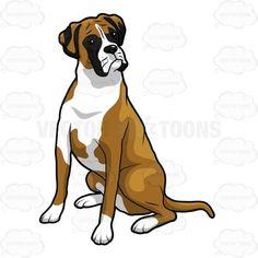Image result for boxer dog clipart