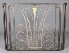 ART DECO METAL RADIATOR COVER: