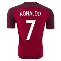 Portugal Euro 2016 Home Authentic Men Soccer Jersey RONALDO #7