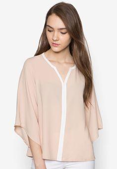 Zalia Kimono Sleeve Blouse Brunei, V Neck Tops, Stitch Fix, Kimono, Blouse, Sleeve, Sweaters, Stuff To Buy, Outfits