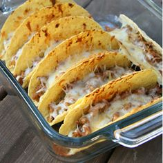 Oven Tacos. The hubs LOVED them. Totally make the homemade taco seasoning (it is delicious and makes the tacos better than store bought)
