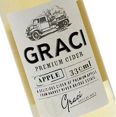 Graci Premium Cider packaging