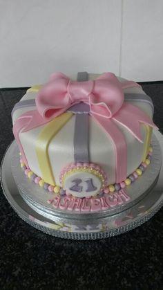 21st girl cake