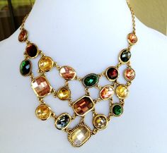 'Sparkling Multi-Color Rhinestone Necklace' is going up for auction at  5pm Tue, Jan 15 with a starting bid of $12.
