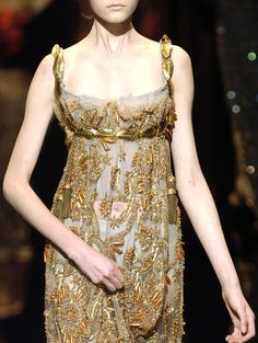 Dolce & Gabbana Fall/Winter 2006 neoclassical dress with empire line