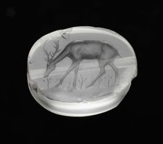 Scaraboid gem with a grazing deer |  Greek, Classical Period, 425–400 B.C.  Length x width x thckns.: 2.4 x 1.9 x 1 cm (15/16 x 3/4 x 3/8 in.)