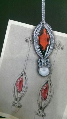 Earrings sketch...♡