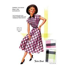 Buyenlarge 'Timely Tucked Gingham' by Fashion Frocks Graphic Art